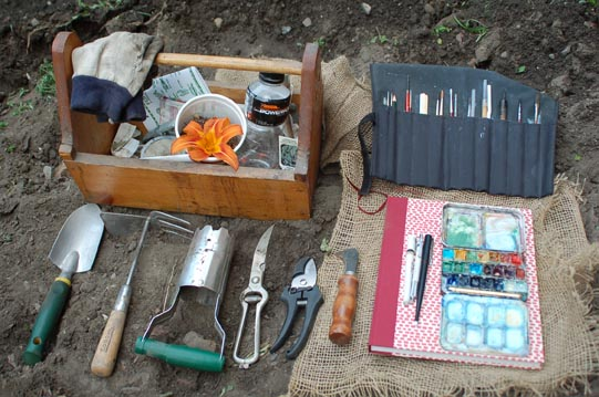 Garden Tools and Drawing Tools