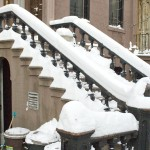 Snow on a Brooklyn Stoop